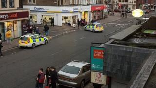 Police incident in Albany Road, Cardiff