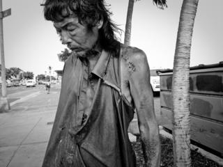 Diana Kim's father on the streets August 7, 2014