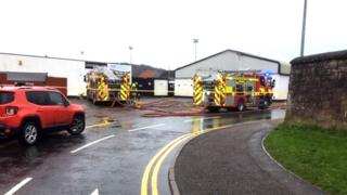 Fire service at Clach FC
