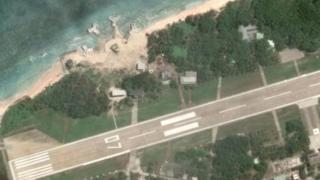 Askeri tesis olduğu düşünülen alanın Google Earth'deki fotoğrafı