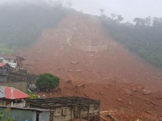 A picture of the mudslide