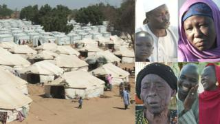 Dalori camp in north-eastern Nigeria and some of its residents