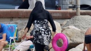 Woman in burkini