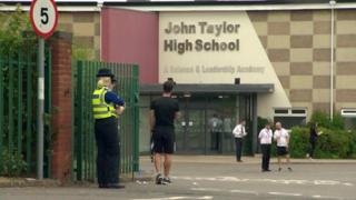 Police outside school