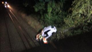 Wythall crash scene