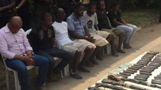 Alleged kidnappers being paraded in Lagos