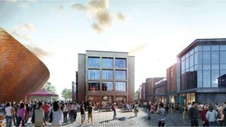 A CGI image of the St Botolph's Quarter development