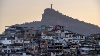 Christ the Redeemer statue and the Morro da Coroa favela in Rio de Janeiro, Brazil (file photo)