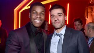 "Actors John Boyega (L) and Oscar Isaac attend the after party for the World Premiere of Â""Star Wars: The Force Awakens"