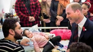 الأمير وليام التقى الطفلة آلين الساتي البالغة من العمر 4 أعوام، وأسرتها