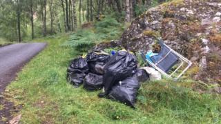 Wild camping rubbish