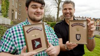 Kieran McAleese SAS army badges