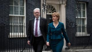 Nicola Sturgeon and Michael Russell