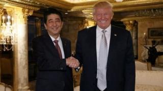 Shinzo Abe tare da Donald Trump