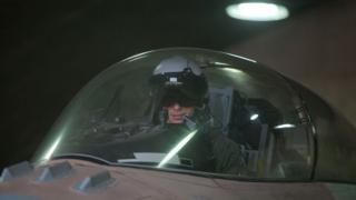 Un piloto israelí, a los mandos de un F-16.