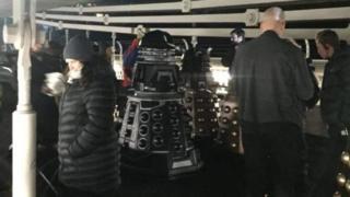 Daleks on Clifton Suspension Bridge