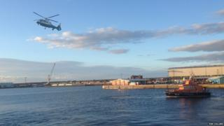 Air Ambulance on standby