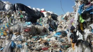 Rubbish piled up