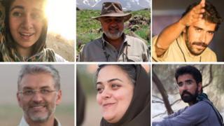 Top row from left: Niloufar Bayani, Morad Tahbaz, Amirhossein Khaleghi Hamidi; Bottom row from left: Houman Jokar, Sepideh Kashani, Taher Ghadirian