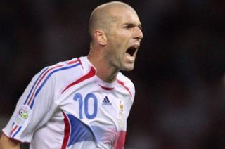 Photomontage from 9 July 2006 showing French midfielder Zinedine Zidane (L) shouting at Italian defender Marco Materazzi during the World Cup final