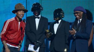 Pharrell Williams, Daft Punk and Nile Rodgers.