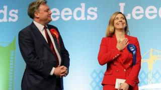 Ed Balls, left, hears he's lost his seat at the 2015 election