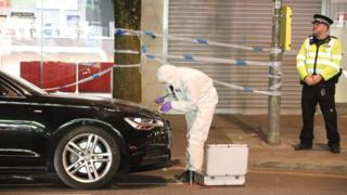 Forensics at Brighton road rage assault