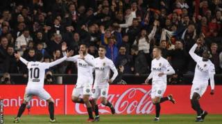 Valencia yari imaze hafi iminota 550 idatsindirwa igitego ku kibuga cyayo, mbere yuko Karim Benzema atsinda igitego kimwe cya Real Madrid muri uwo mukino