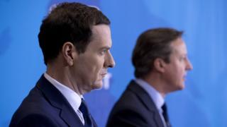George Osborne (l) and David Cameron
