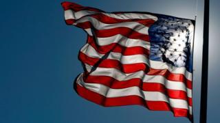 US flag flying at half-mast