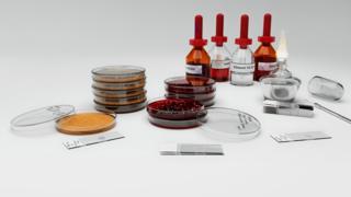 Equipo de laboratorio usado en la coloración de Gram