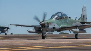 Aeronave A-29, responsável pelos tiros