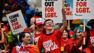 Stonewall members at Pride