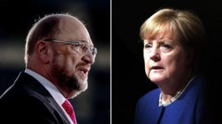 Angela Merkel ve Martin Schulz