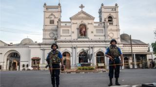 Sri Lanka'da saldırı düzenlenen kiliselerden biri
