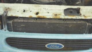 The rusting van