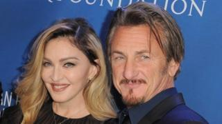 Musician Madonna and actor Sean Penn attend the 5th Annual Sean Penn gala benefiting J/P Haitian Relief Organization at Montage Hotel on January 9, 2016 in Beverly Hills, California