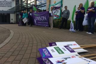 Demonstration by healthcare workers in Aviemore