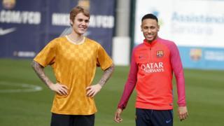 Justin Bieber y Neymar