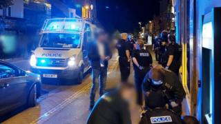 Police officers in Market Harborough