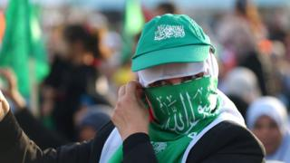 Hamas supporter in Gaza