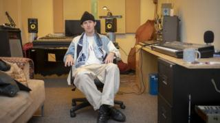 Music producer Warmthness in his soundproofed studio at SET in Bermondsey