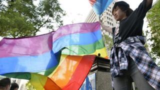 ЛГБТ-активист в Тайване
