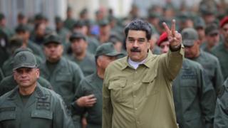Maduro con tropas.