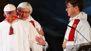 Antje Jackelen ve Papa Francesco