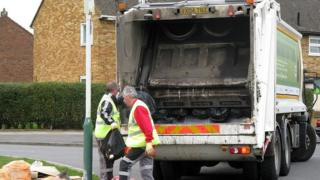 Refuse collectors in Essex