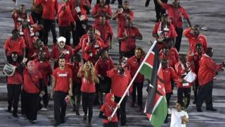 Kenya's athletes during the Rio Olympics' Opening Ceremony