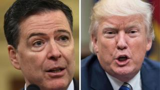 James Comey and Donald Trump composite pic