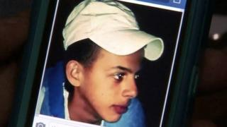 A screen grab of a picture of 16-year-old Mohammed Abu Khdair displayed on his mother's phone on 2 July 2014.