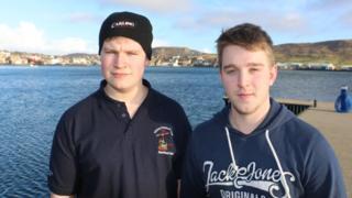 Shetland fishermen John-Arthur and Lee